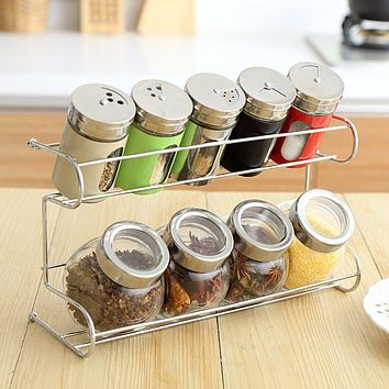 Simple moments 9Piece/Set seasoning box mason jar condiment box food container kitchen organizer sugar jar spice for storage box