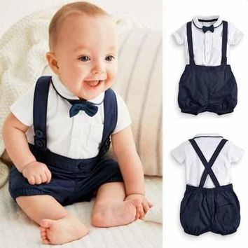 2Pcs Infant Baby Boys Suspender Sets