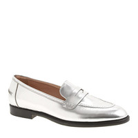 Collection mirror metallic penny loafers