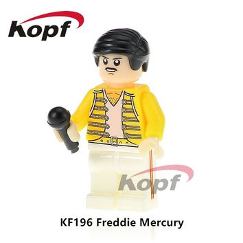 Super Heroes Single Sale Freddie Mercury Lead Singer Queen Michael Jackson Donald Trump Building Blocks Children Gift Toys KF196