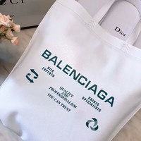 Balenciaga Fashionable High-End Popular Leather Handbag Tote Satchel Shoulder Bag White I-AGG-CZDL