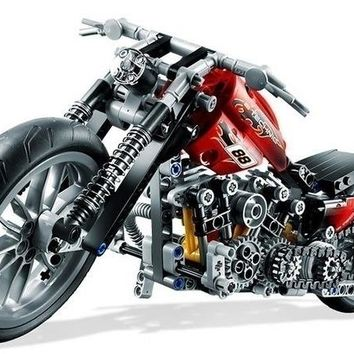 New Technic Exploiture 378 Pieces Building Block Harley-Davidson Motorcycle Model Toys For Children Compatible with legoed (Colo
