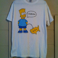 Bootleg Bart Simpson Cowabunga USA Reproduction Shirt