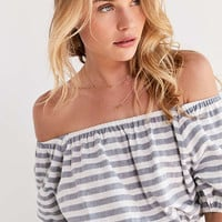 SIR the label Marlo Off-The-Shoulder Striped Top | Urban Outfitters