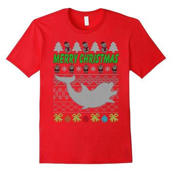 Funny Christmas Dolphin T-Shirt Ugly Xmas Gifts