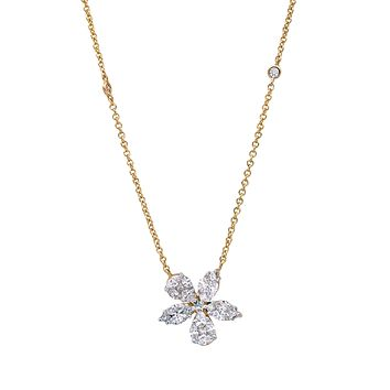 Flowers of Love Necklace in 18k Rose Gold