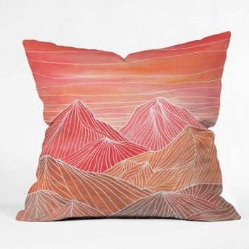 Viviana Gonzalez Lines in the mountains V Outdoor Throw Pillow | DENY Designs Home Accessories