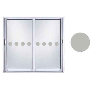 Etched Glass Vinyl Decals Sliding Door Safety Stickers Shapes Circle