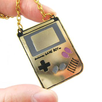 Classic Nintendo Game Boy Console Shaped Pendant Necklace | Handmade