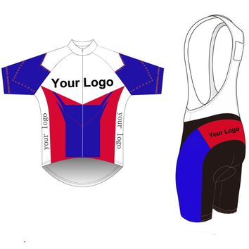 2017 Custom Cycling Jersey +BIB Shorts Summer Set DIY Bicycle Wear Polyester + LyCra Any Color Any Size Any Design Free shipping