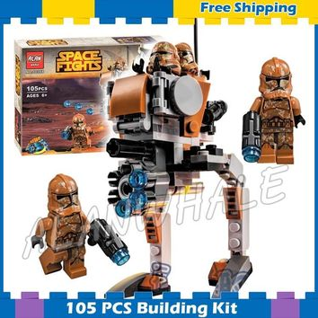 Star Wars Force Episode 1 2 3 4 5 105pcs Space  Geonosis Troopers Clone Universe 10368 Model Building Kit Blocks Kid Children Gifts Sets Compatible With Lego AT_72_6