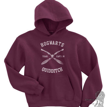 Hogwarts Quidditch team Captain printed on YOUTH / KIDS Hoodie