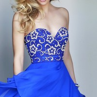 Short Sweetheart Neckline Party Dress by Sherri Hill