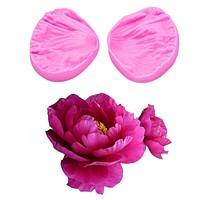 3D Peony Flower Petals Embossed Silicone Mold Relief Fondant Cake Decorating Tools Chocolate Gumpaste Candy Clay Moulds FT-1028