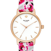 Kate Spade Rose Print Metro Watch Multi/Rose Gold ONE