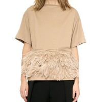 No. 21 Feathered Top