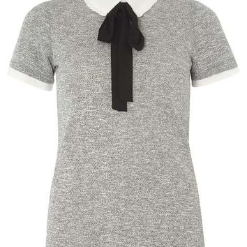Grey Frill 2-in-1 Top - Tops & T-Shirts - Clothing