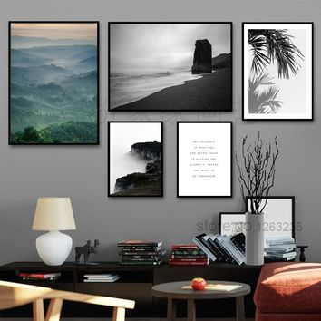 Cuadros Decoracion Home Seawater Leaf Picture Wall Pictures For Living Room Nordic Poster Wall Art Canvas Painting Unframed