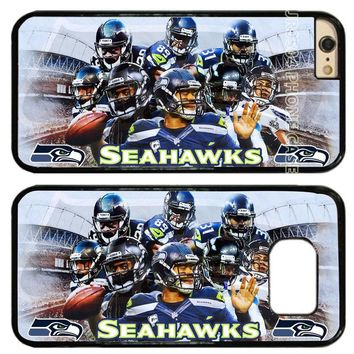 Seattle Seahawks Football Team PC+TPU Edge Cell Phone Case Cover Fits For iphone XS MAX XR X 5 5s 6 6s 6 plus 7 8 plus T0247