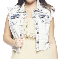 Cloud Wash High Low Vest | Wet Seal