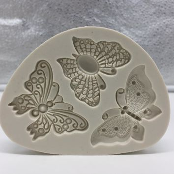 Butterfly Shaped Fondant Cake Mold Silicone Mold Soap Mould Bakeware Baking Cooking Tools Sugar Cookie Jelly Pudding Decor H058
