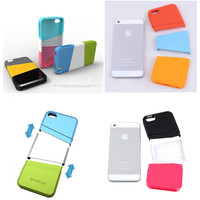 diy CONTRAST COLOR Spliced parts for iphone 4/4s
