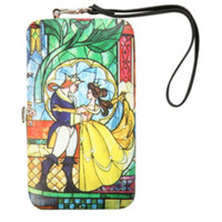 Disney Beauty And The Beast Stained Glass iPhone Hinge Wallet