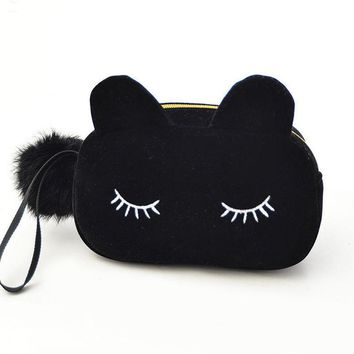 Kitty Coin Cosmetic Travel Bag