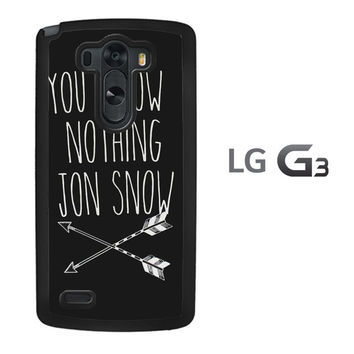 You Know Nothing Jon Snow Game Of Thrones LG G3 Case