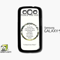 Pierce The Veil Song Lyrics Samsung Galaxy S3 Case Cover by Avallen