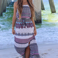 Golden Coast Halter Maxi Dress