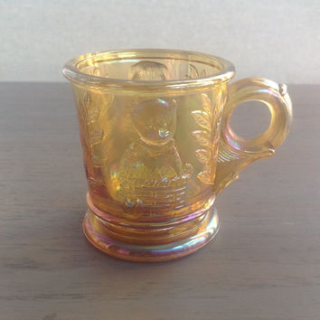 Vintage Carnival Glass Baby Cup