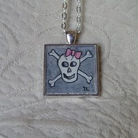 Pink Bow Skull And Crossbones Origi.. on Luulla