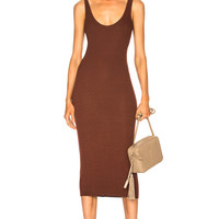 Enza Costa Rib Tank Midi Dress in Hawthorne | FWRD
