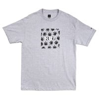 HUF - HUF X SNOOP - PLANTLIFE BOX LOGO TEE // GRAY HEATHER
