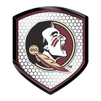 Florida State Seminoles NEW LOGO SHIELD Reflector Emblem Decal FSU University