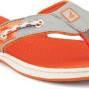 Sperry Top-Sider Seafish Thong Sandal Gray/Orange, Size 8M  Women's