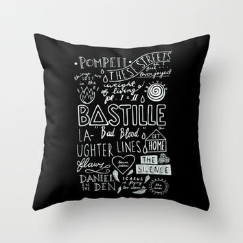 BASTILLE - BAD BLOOD (DARK) Throw Pillow by infinitum