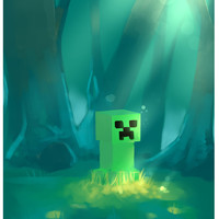 Minecraft Creeper 8x11 art print
