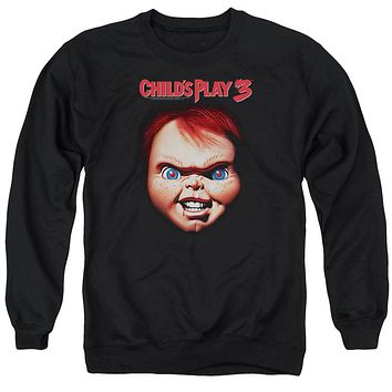 Childs Play Sweatshirt Chucky Close Up Black Pullover