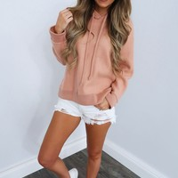 Just Chillin Hoodie: Apricot