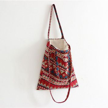 Bohemian Women Shoulder Bag Crossbody Tote Handbag Bags Student Hippie Shopping Cross BodyBag