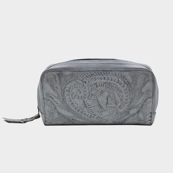 Leaders in Leather Vaquetta Hip Bag - Whitewash Gray