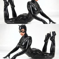 Women NEW Leather Catwoman Suit - Free Shipping