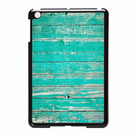 Teal Wood iPad Mini 2 Case