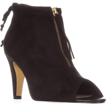Bella Vita Nicky II Peep-Toe Ankle Boots, Black, 7 WW US