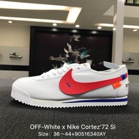 OFF-White x Nike Cortez'72 Si White Black Men Sports Running Shoes Sneaker - 881205-103
