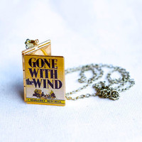 Gone with the Wind Book Locket Necklace by junkstudio on Etsy