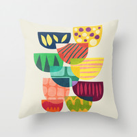 Story From The Floating World Throw Pillow by Budi Satria Kwan
