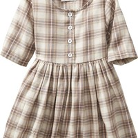 Old Navy Plaid Fit & Flare Twill Dress For Baby